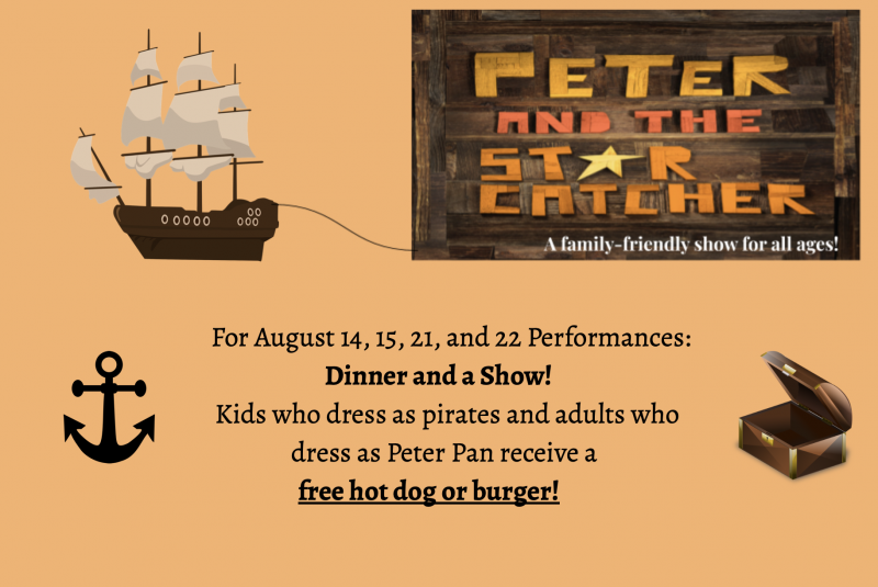 Dress as a pirate or Peter Pan?  Get a free hot dog or burger!